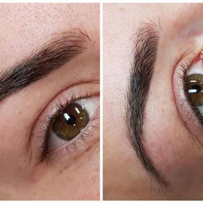 Brwi makijaż permanentny efekt zabiegu
