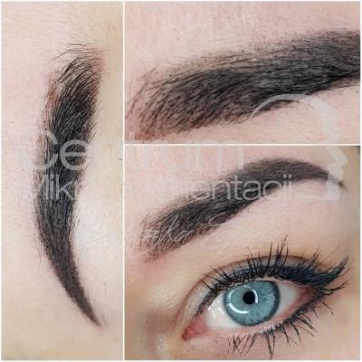 Makijaż permanentny brwi efekt zabiegu
