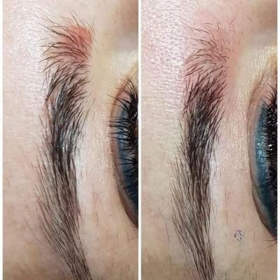Usuwanie makijażu permanentnego czerwone brwi